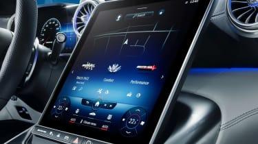 Mercedes SL interior - infotainment