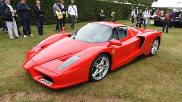 Older (but no less exciting) hypercars can be found if you look hard enough; here's a Ferrari Enzo.