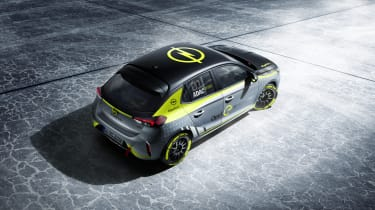 Vauxhall Corsa-e rally - top