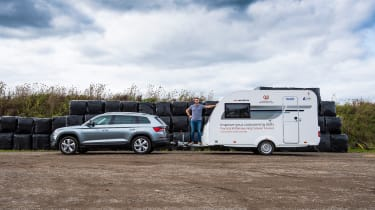 Skoda Kodiaq towing side profile