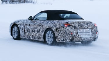 BMW Z4 spy shot rear quarter