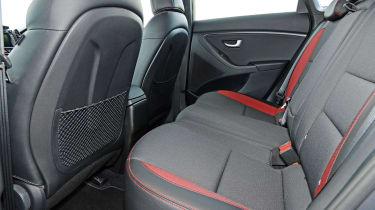 Hyundai i30 Turbo - rear seats