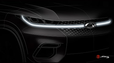 Chery SUV teaser front