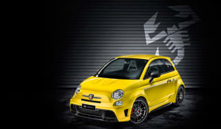 Abarth 695 Biposto Record front quarter