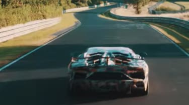 Lamborghini Aventador SVJ teaser vid rear