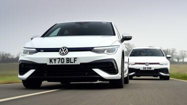 Volkswagen Golf GTI Clubsport vs Volkswagen Golf R - front