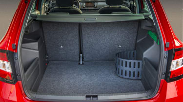 Skoda Fabia 2015 Estate boot seats up.