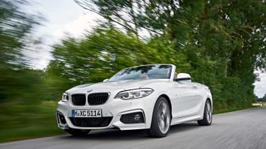 BMW 220d Convertible - front tracking