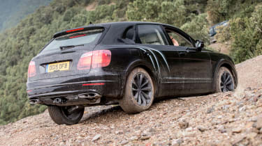 Bentley Bentayga prototype first drive - off-road rear