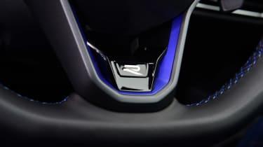 Volkswagen Golf R - steering wheel detail