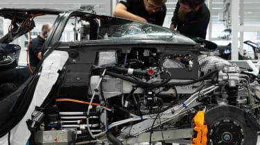 McLaren Speedtail - assembly line - engine