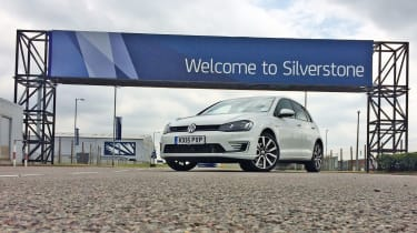 VW Golf GTE Silverstone race track