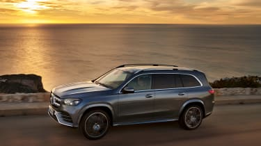 Mercedes GLS - grey front twilight