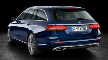 Mercedes E-Class Estate - blue rear quarter