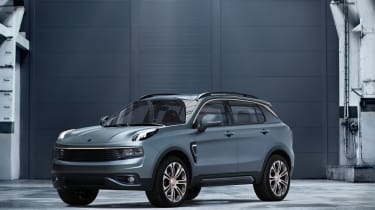 Lynk and Co SUV concept hybrid front