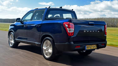 SsangYong Musso - rear