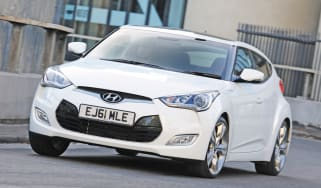 Hyundai Veloster front cornering