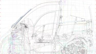 Shell Gordon Murray car sketches