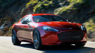 Aston Martin Rapide S front tracking
