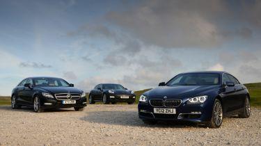 BMW 640d Gran Coupe vs rivals group shot