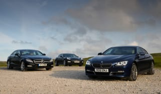 BMW 640d Gran Coupe vs rivals group shot