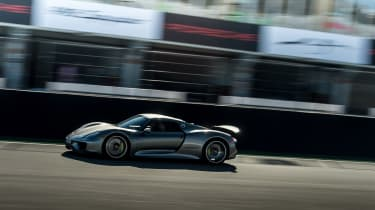 The 918 lapped the Nurburgring in under 7 minutes.