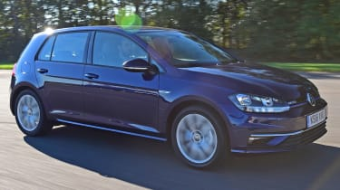 vw golf tracking front