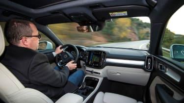 Volvo XC40 SUV - driving