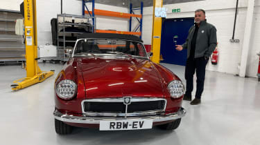 Electric MGB - red