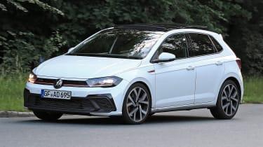 2022 VW Polo GTI spy shots front