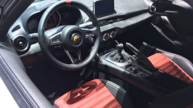 abarth 124 spider rally tribute interior