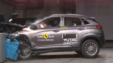 Hyundai Kona - Euro NCAP crash