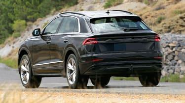 2018 Audi Q8 spy shot rear quarter