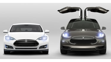 Tesla Model X next to Model S