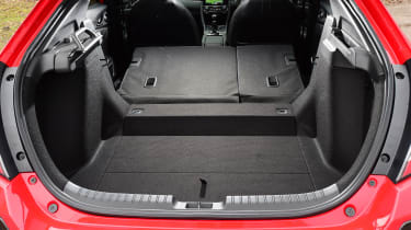 Honda Civic vs Volkswagen Golf vs Renault Megane - civic boot seats down
