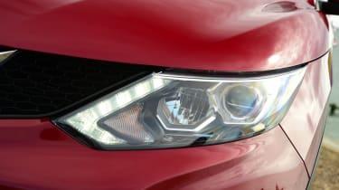 MG GS vs rivals - Nissan Qashqai headlight