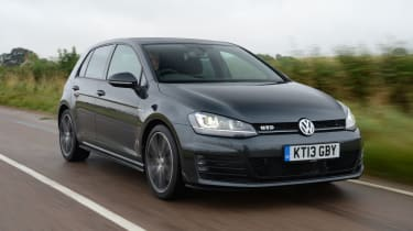 The Volkswagen Golf GTD handles well.