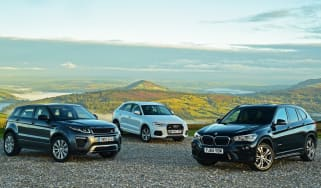 BMW X1 vs Range Rover Evoque vs Audi Q3