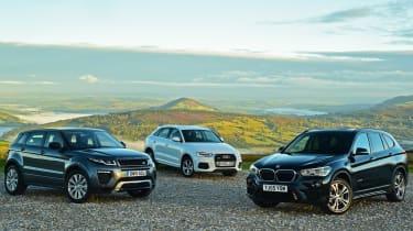 BMW X1 vs Range Rover Evoque vs Audi Q3