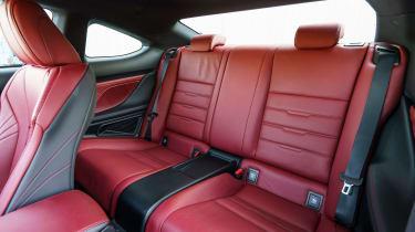 Lexus RC - rear seats