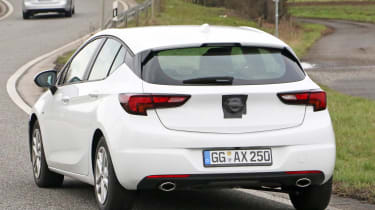 2019 Vauxhall Astra spyshot - rear action