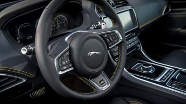 Jaguar XE and XF launched - steering wheel