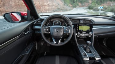 Honda Civic 2017 red - interior
