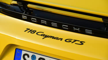 New Porsche Cayman GTS review - GTS badge