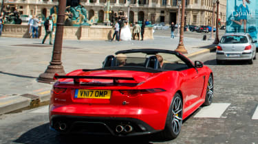 Jaguar F-Type SVR Convertible - rear tracking