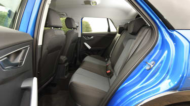 Audi Q2 - rear seats blue