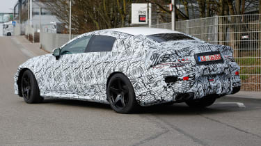 Mercedes-AMG GT four door spied rear side