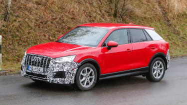 Audi SQ2 - red spied front