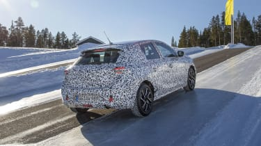 Vauxhall Corsa winter testing - rear