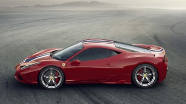 Ferrari 458 Speciale profile